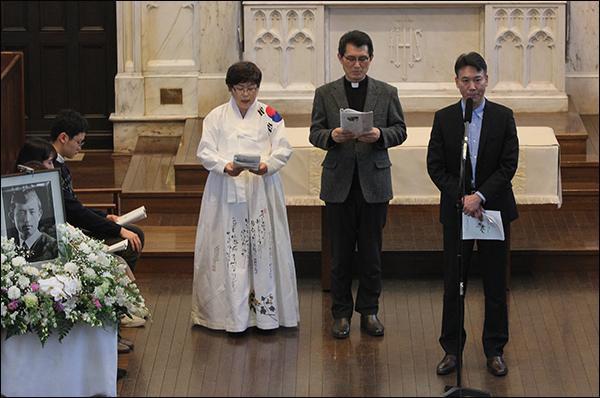 기자(이윤옥), 김대원 사제, 니노미야사토시씨.