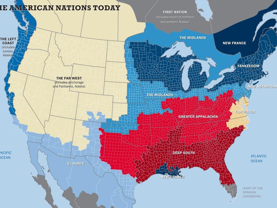 북미에 존재하는 11개 국가(nations)