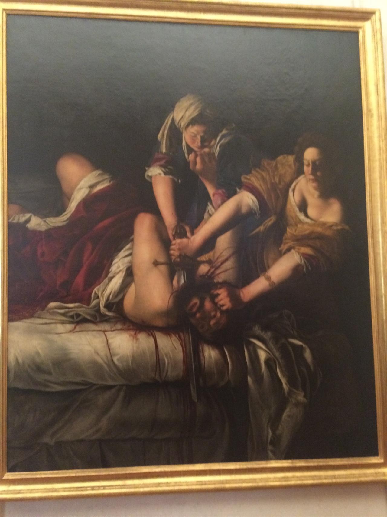 홀로페르네스의 목을 베는 유딧   아르테미시아 젠틸레스키, 1614-1620, 우피치 미술관
