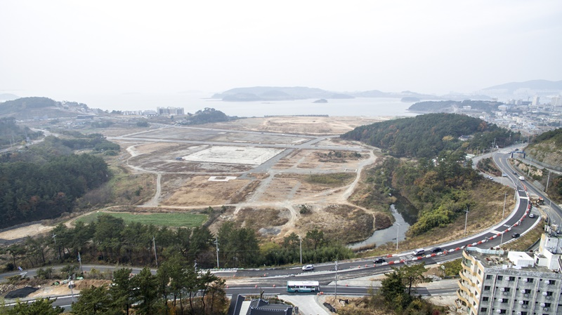 여수시 돌산읍 상포지구 매립지 현장