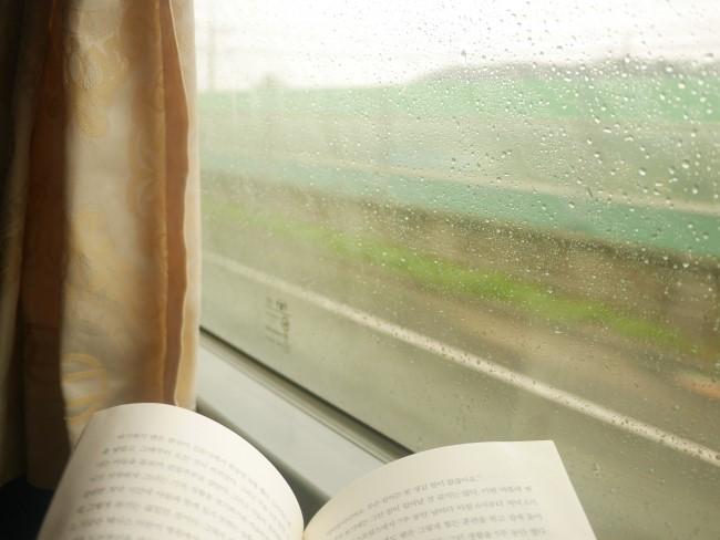 버스에서 책읽기  폐쇄된 대중교통은 책 읽기에 최적의 장소였다. 스마트폰이 있을 땐 하지 못한 고농축 독서 경험을 했다.