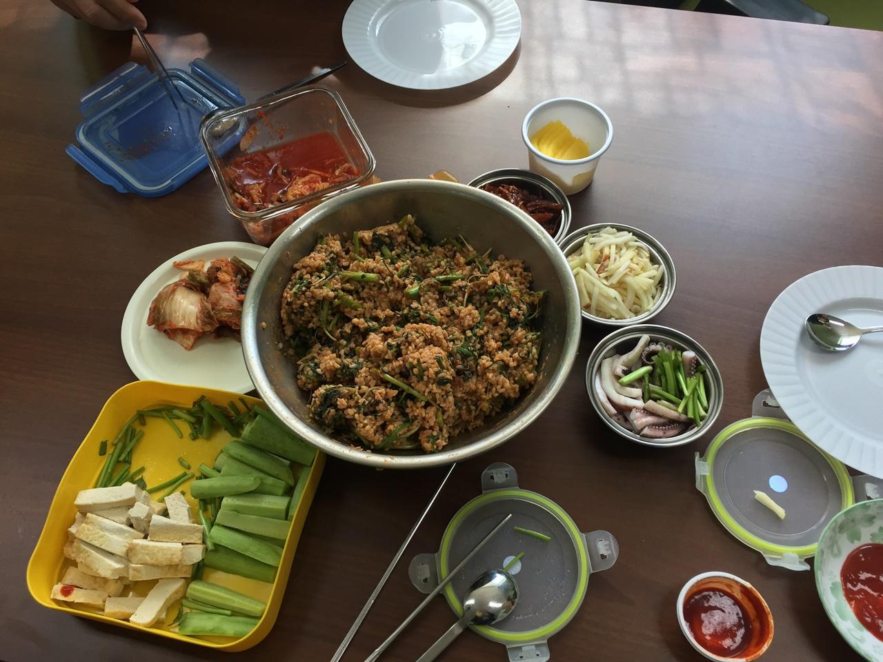 봄나물 비빔밥 항상 고마운 아내