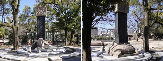 히로시마 평화공원에는 재일 한국인 희생자를 추모하는 곳도 있습니다. 그때 히로시마에는 한반도에서 건너간 우리 동포가 10만 명 정도 살았다고 합니다. 그 가운데 2만 명 정도가 희생되었다고 합니다.