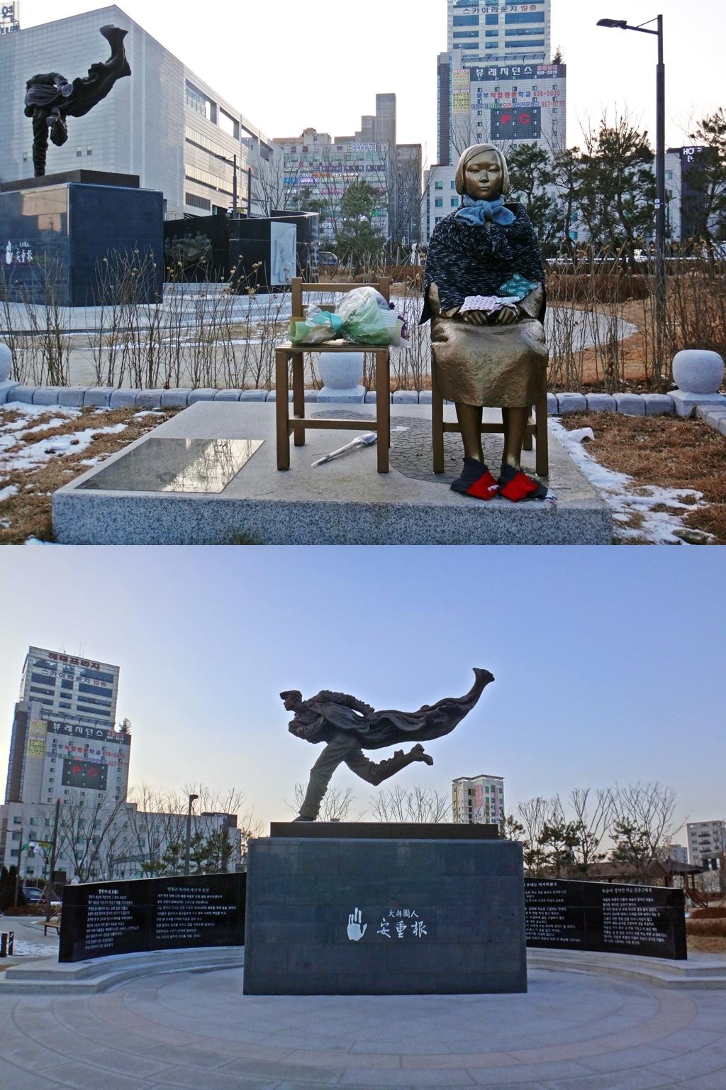 의정부 평화의 소녀상과 안중근 동상