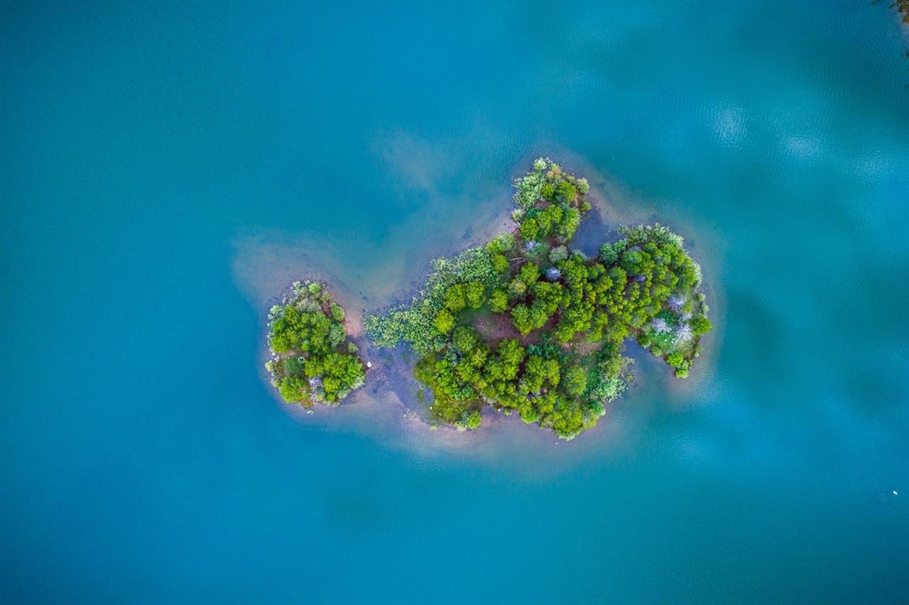 '푸른' 섬과 '파란' 바다 ·