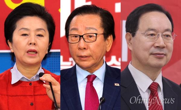 자유한국당 김영선, 안홍준, 하영제 경남지사 예비후보.