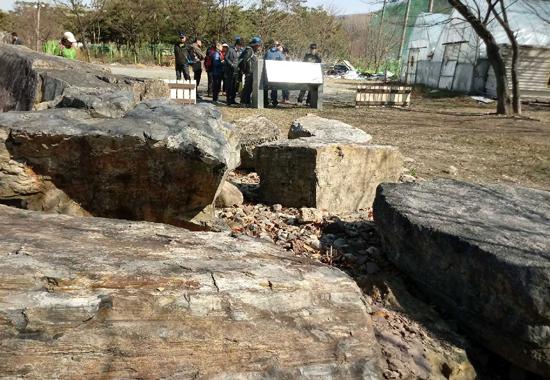 수성못 유원지 인근의 고인돌 유적(대구시 기념물 12호)