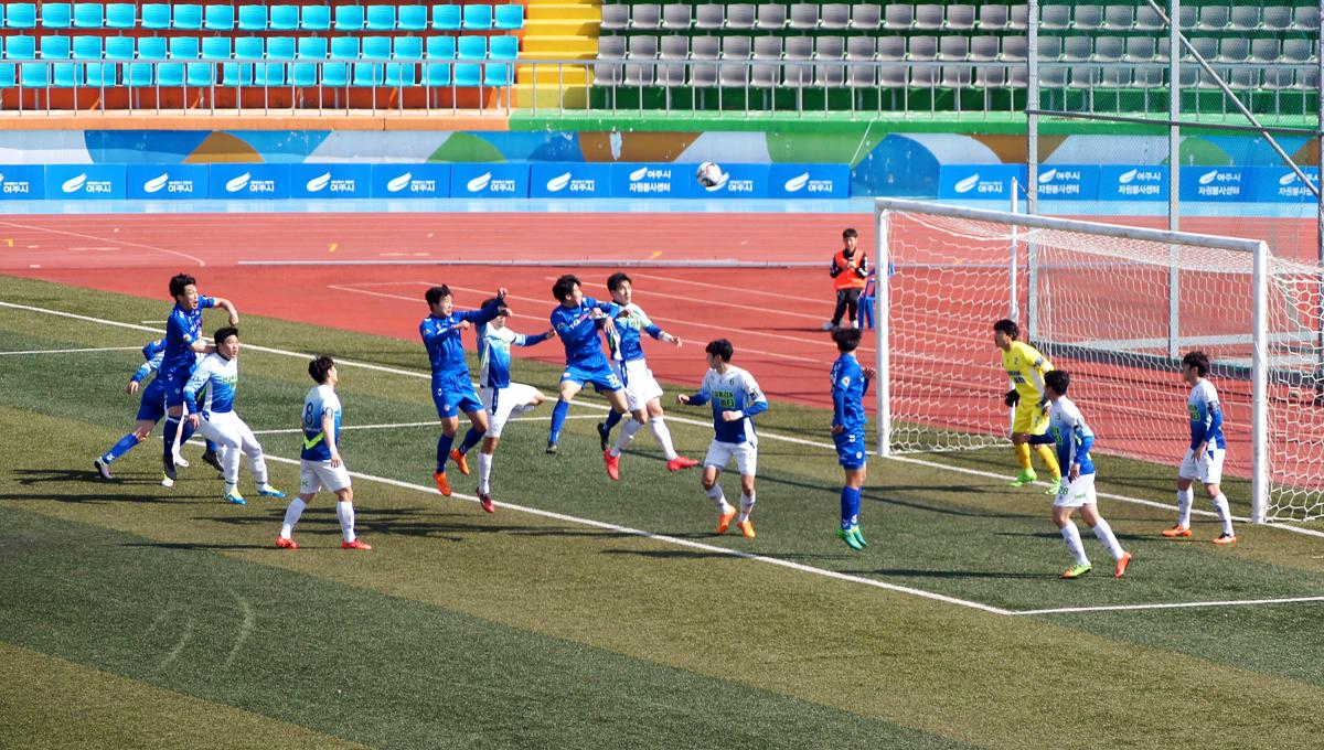 여주세종축구단 ▲2018 K3리그 신생팀 여주세종축구단이 '2018 KEB하나은행 FA컵' 2라운드에서 직장부 최강 청주 SMC엔지니어링을 누르고 3라운드에 진출, 돌풍을 일으키고 있다.