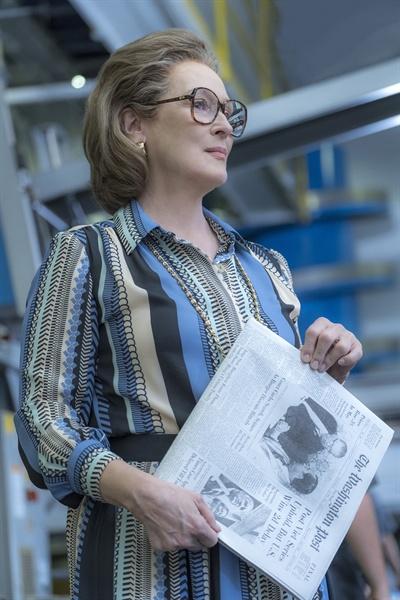 영화 <더 포스트>. <워싱턴 포스트>의 발행인인 캐서린 그레이엄으로 분한 메릴 스트립