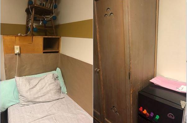 워싱턴대 기숙사 1인실 모습 월세로 90만 원 넘게 내는 워싱턴대 기숙사 1인실의 모습
