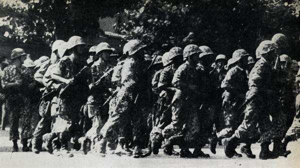 1965년 '위수령' 한일협정 비준 반대의 소용돌이 속에서 1965년 8월 26일 위수령이 발동됐다. 경찰로는 치안 유지가 어렵다고 판단한 당시 서울시장 윤치영의 요청으로 서울 일원에 위수령이 발동됐고, 연세대와 고려대에 휴업령이 내려졌다. 무장한 군인은 학내에 진입하기도 했다.