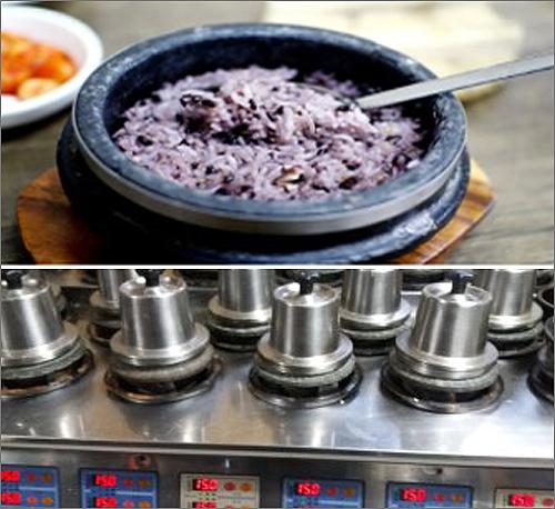 한국도로공사(사장 이강래)가 '휴게소 밥은 맛이 없다'는 편견깨기에 나섰다. 사진은 경부고속도로 죽암휴게서(서울방향)에서 제공하고 있는 돌솥밥과 1인 솥밥 장면.