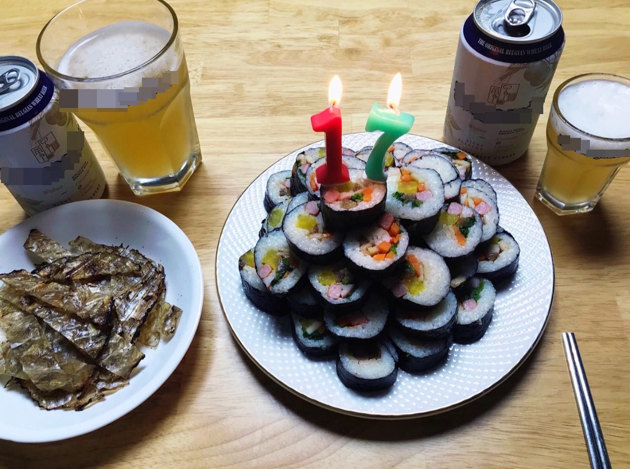 생일 케잌 마음 나이에도 촛불켜주기