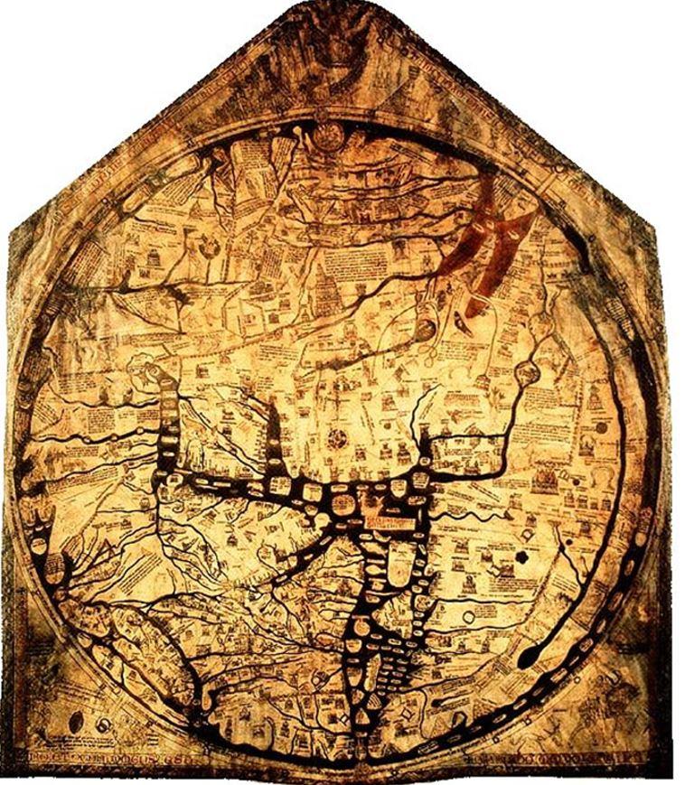 Hereford Mappa Mundi 중세 서양의 대표적 지도