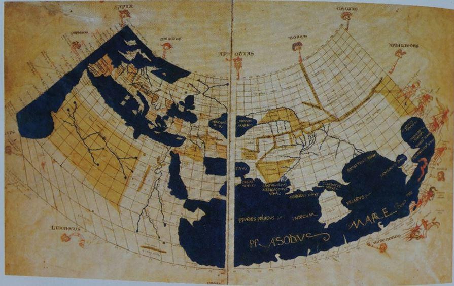 프톨레미 지도 15세기 초 최초의 프톨레미 지도