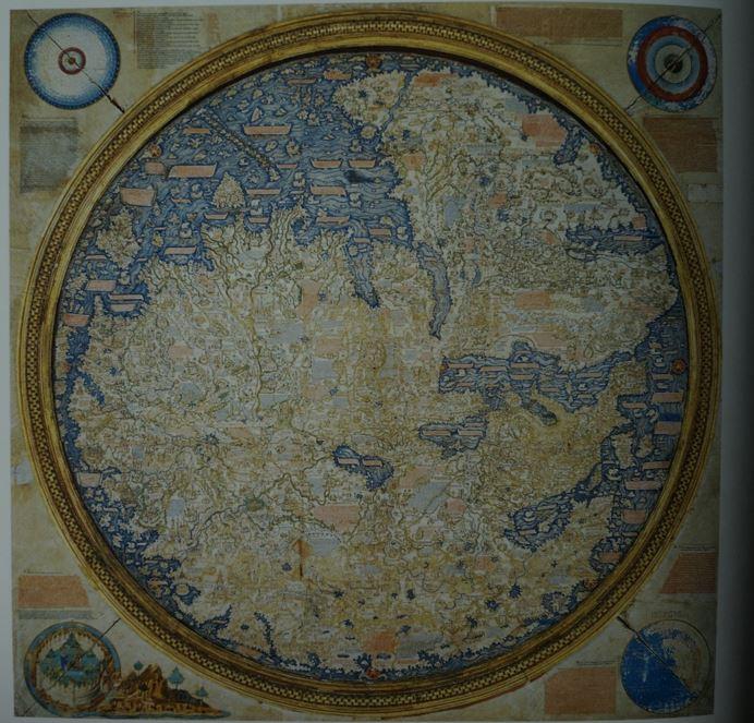 프라 마우로 세계도 남쪽이 위를 향함