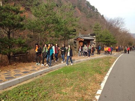 내포문화숲길 걷기 축제가 진행되고 있는 모습이다.
