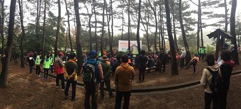 내포문화숲길 걷기 축제의 모습.
