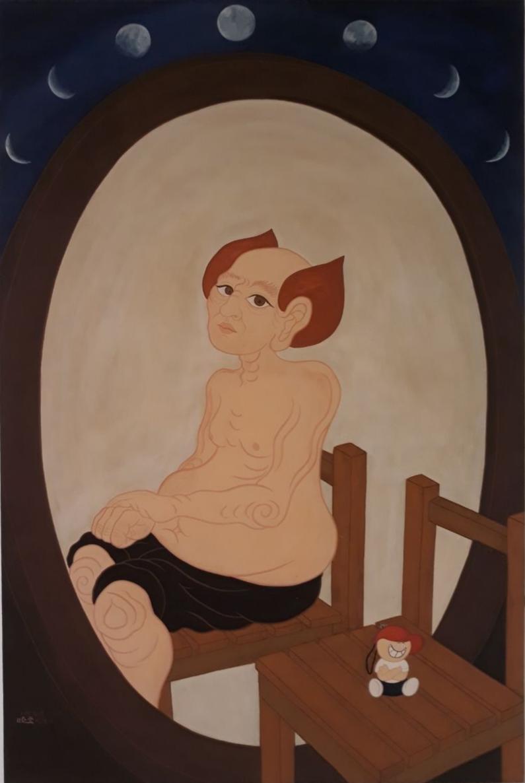 향경向鏡.  임남진.  한지채색.  90x60cm.  2010