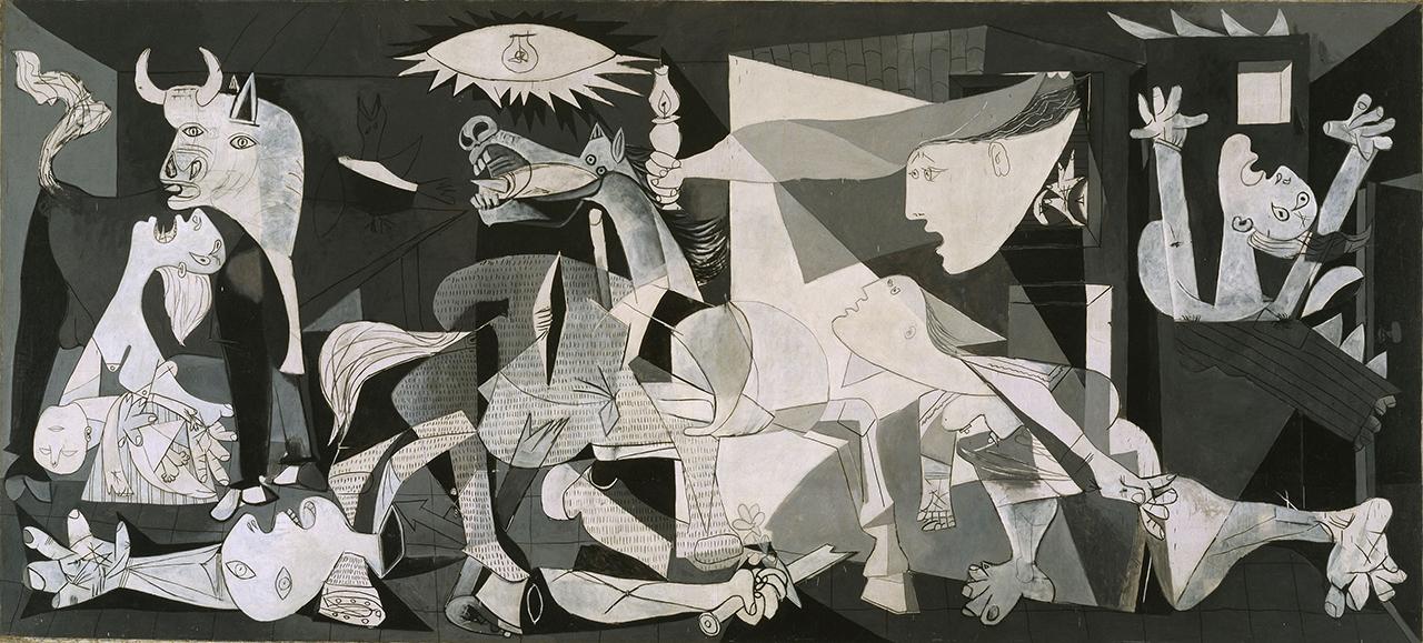 <게르니카> 파블로 피카소, 1937. 이 작품은 스페인 내전의 비극을 고발한다.