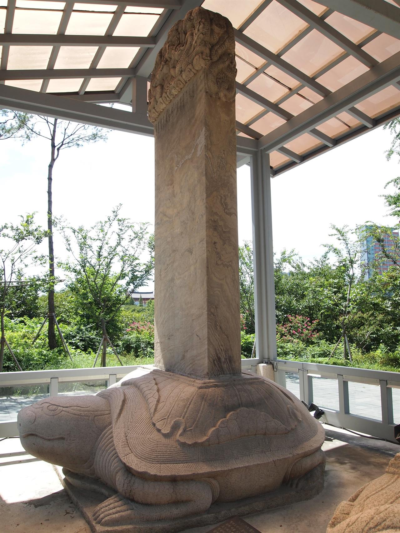 서울 삼전도비 삼전도의 굴욕을 상징하는 '삼전도비'의 모습