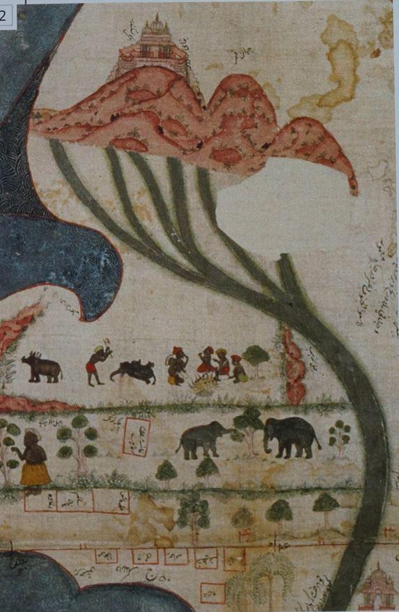 나일강 인도 18세기 지도