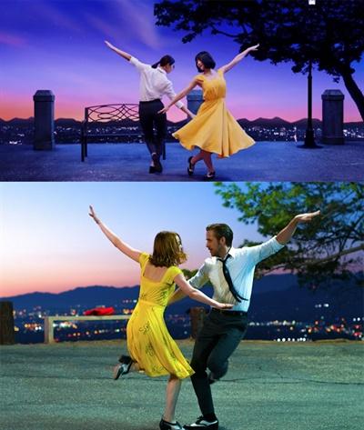 영화 <라라랜드>의 라이언 고슬링, 엠마 스톤 커플에겐 춤이라면 자신 있는 쯔위, 모모가 도전장을 내밀었다.