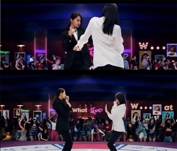 영화 <펄프픽션>에서 트와이스 쯔위, 사나는 존 트라볼타, 우마 서먼 이상의 춤 솜씨를 보여줬다.