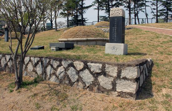 우해룡 지사의 묘소