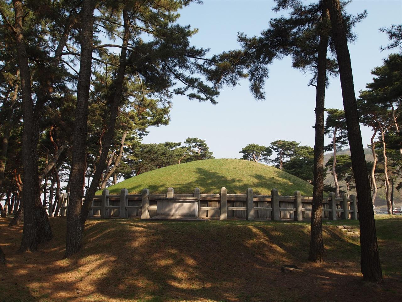 헌덕왕릉 전면에서 바라본 헌덕왕릉, 현재의 모습은 1970년대의 정비 과정을 통해 조성되었다.