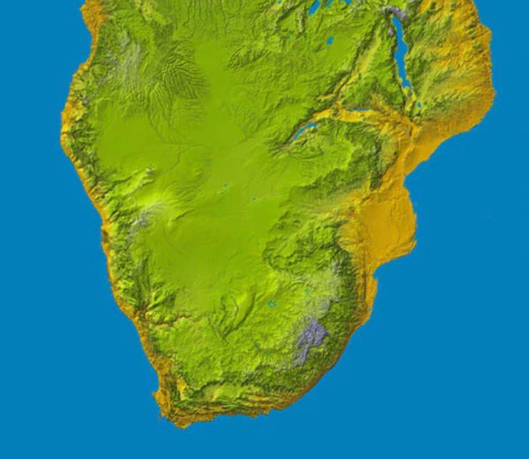 남아프리카 남아프리카 나사 지도(2004)