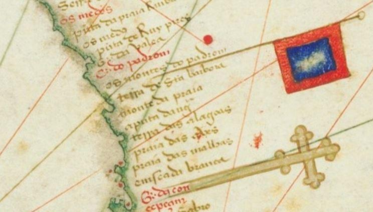 칸티노 지도(1502) 남아프리카 오렌지 강 부근