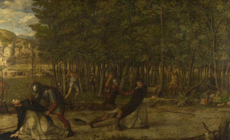 조반니 벨리니. 순교자 성 베드로의 암살(1507년경.내셔널 갤러리)