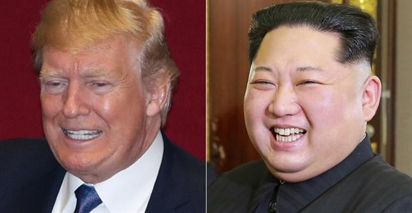 트럼프 미국 대통령과 김정은 북한 국방위원장.