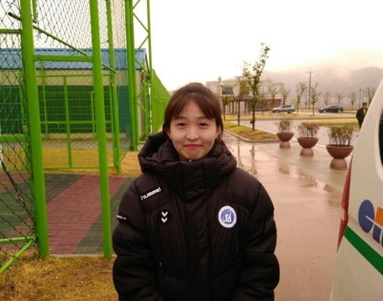 문경대학교 여자축구부 주장 이솔잎