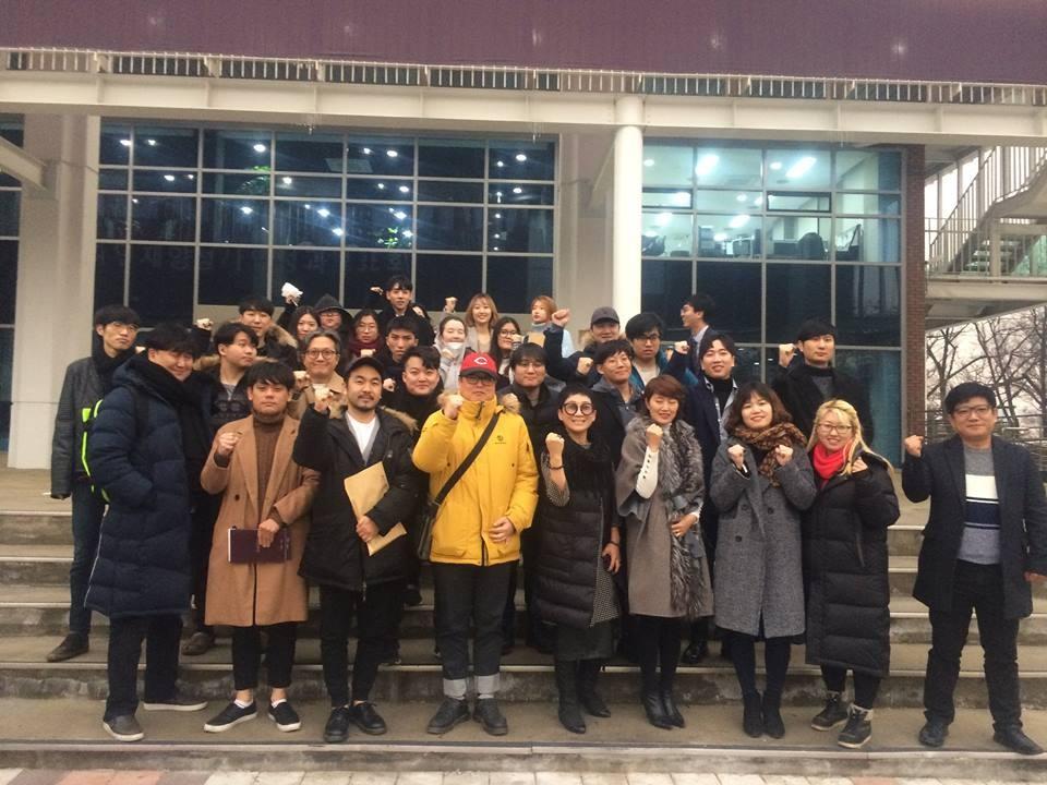 한국만화인협동조합의 조합원들