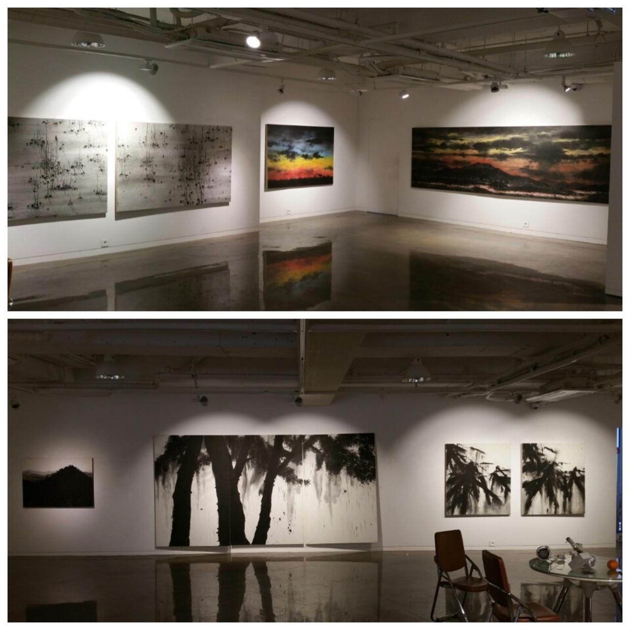 오는 24일까지 서울 인사동 G&J 광주전남갤러리에서 수묵화가 <허달용 개인전>이 열린다.
