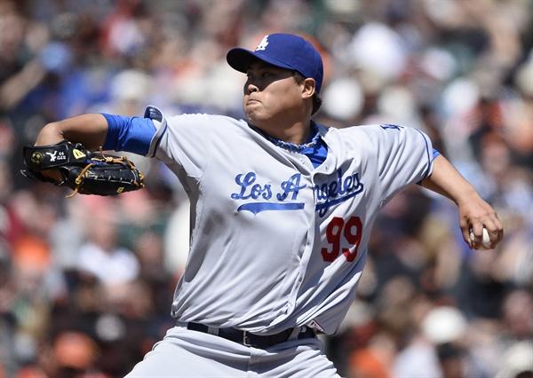 미국 프로야구 LA 다저스의 류현진 선수(자료사진)