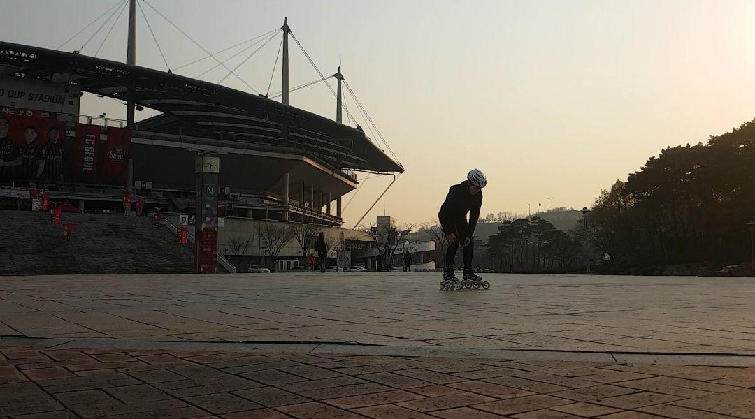 인라인스케이트팀 연습 날