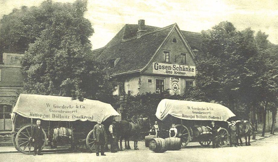 고젠쉔케(Gosenschenke) 19세기 라이프치히 고젠쉔케의 모습