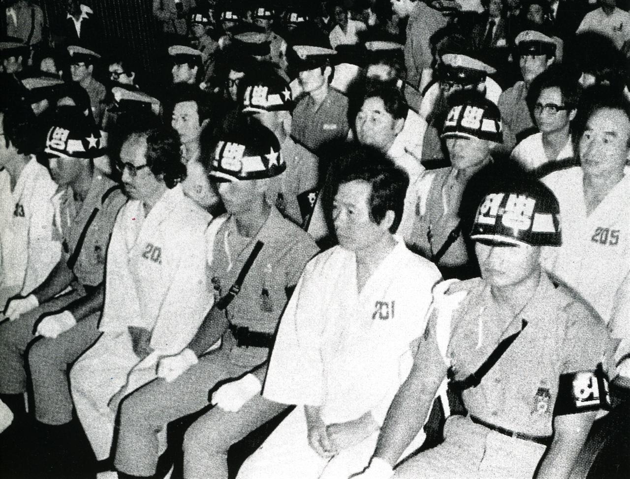 사형선고를 받았던 1980년 군사재판 모습