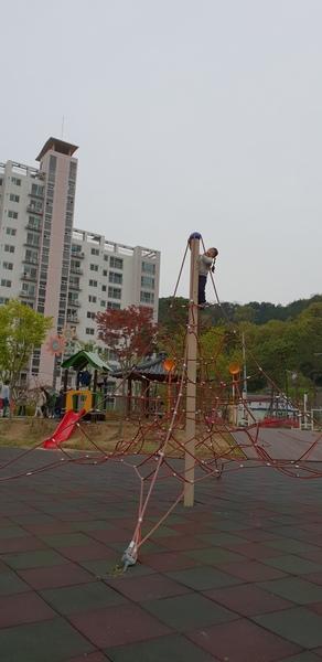 콩콩이의 성장 무서워서 생각도 못하더니 정상에 올랐다. 조금씩 조금씩 성장해 가는 손녀다. 어른들의 걱정과 우려 속에서 모험을 즐긴다.