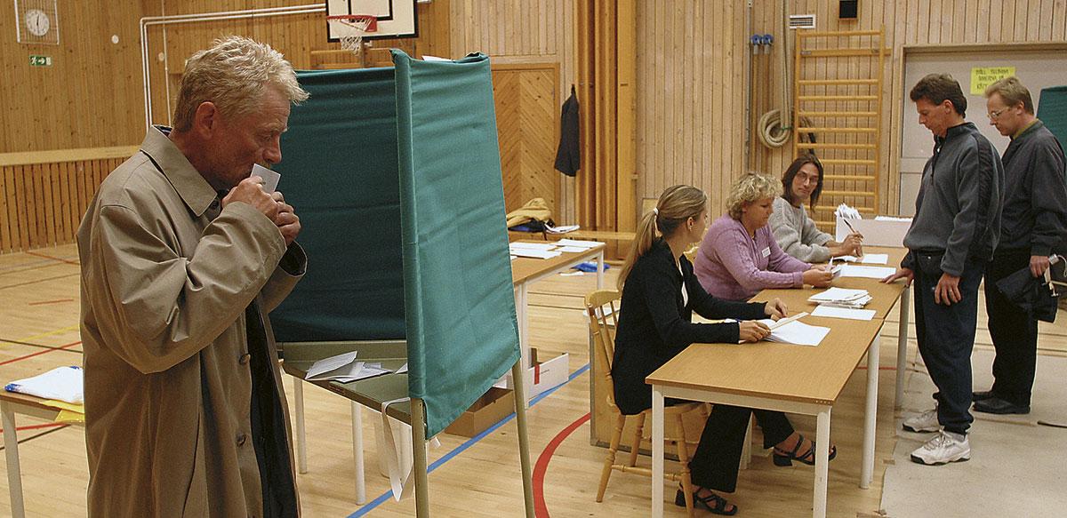 투표소의 모습.