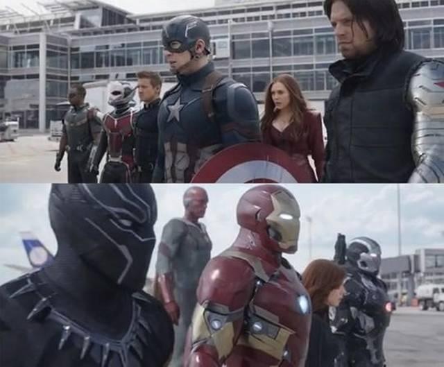 영화 <캡틴아메리카 : 시빌 워> 장면
