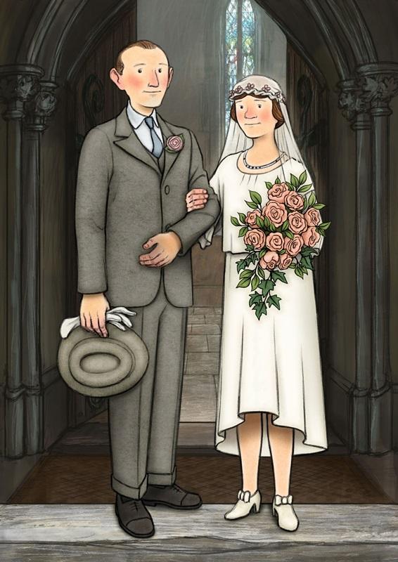 영화 <에델과 어니스트>의 한 장면. 가정부 에델과 우유 배달부 어니스트는 서로에게 호감을 가진 끝에 결혼한다.