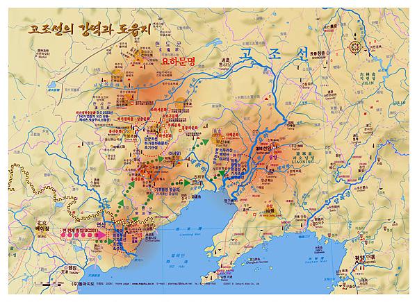 동아지도 안동립 대표가 제작한 '고조선강역과 요하문명지도'