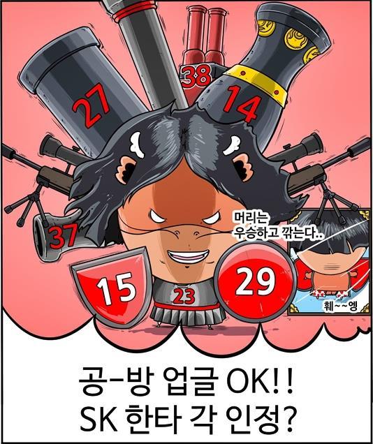 리그 하위권인 불펜 불안 해소가 시급한 SK (출처: [KBO 야매카툰] 2018시즌, KIA-두산-SK가 3강? 편 중)