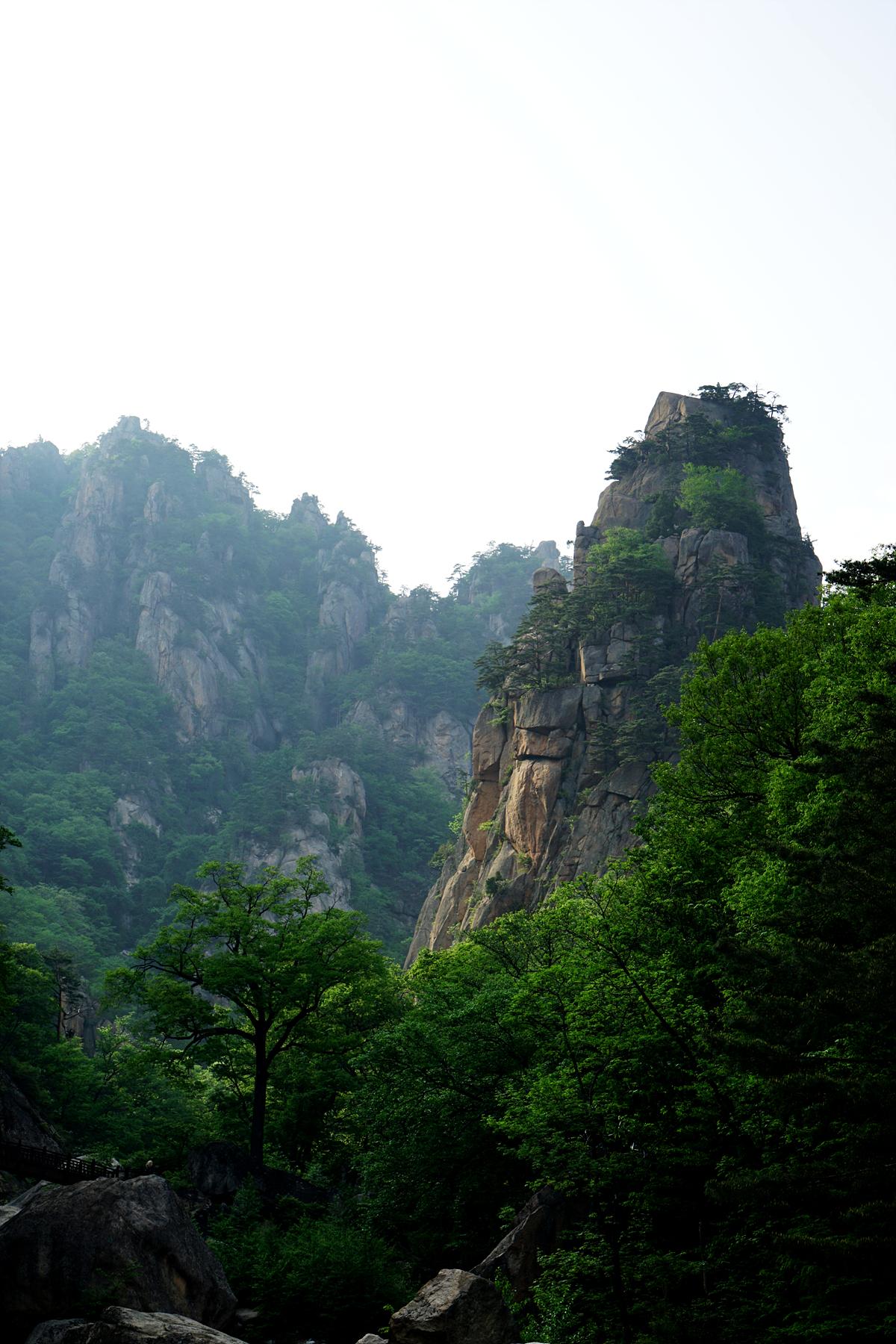 석양의 주전골 풍경
