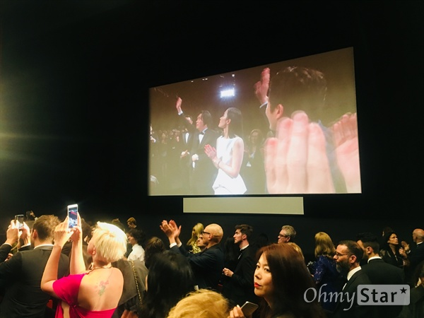 16일 팔레 드 페스티벌 내 뤼미에르 극장에서 영화 <버닝>의 공식 상영이 열렸다.