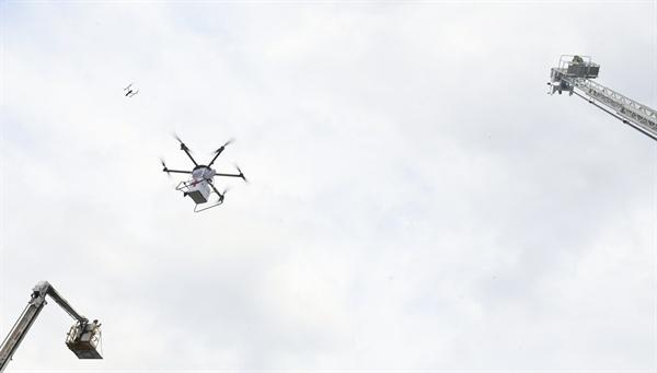 17일 오후 거창에서 열린 '재난대응 안전한국훈련'.